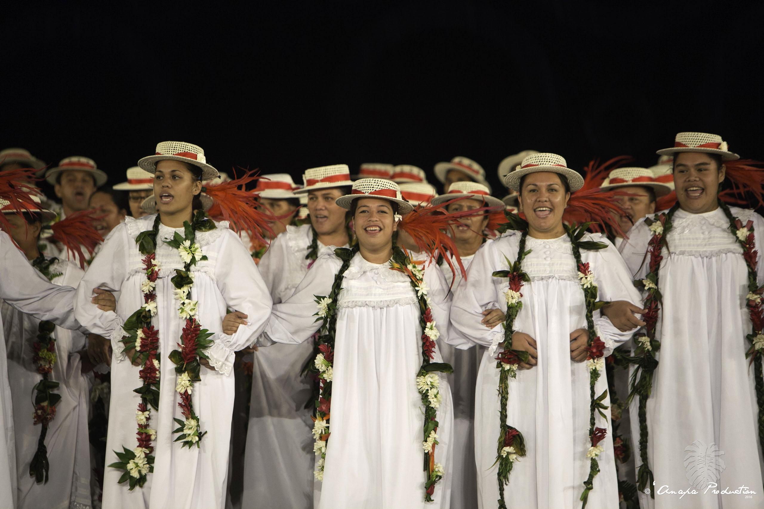 Le groupe de chants Te Pape Ora no Papofai a gagné en 2016 dans la catégorie Tārava Raromatai.