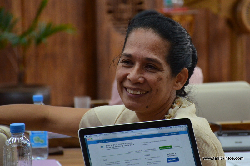 Teura Iriti élue présidente déléguée du Tahoeraa Huiraatira