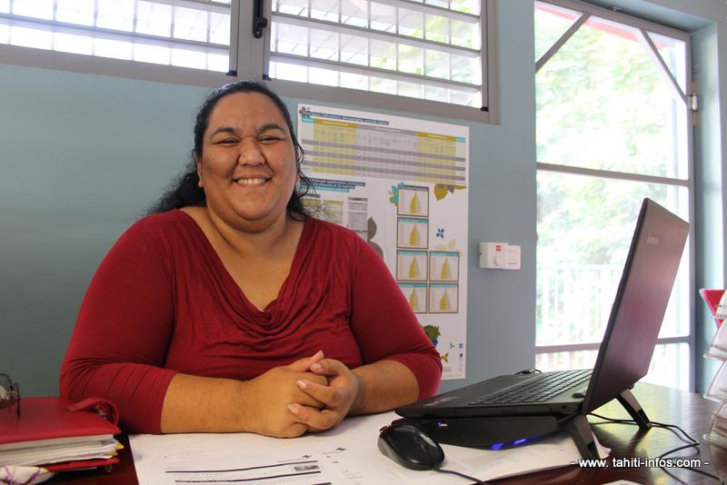 Laetitia Nahei, remplaçante de la responsable coordinatrice du projet, Heitiare Richmond.