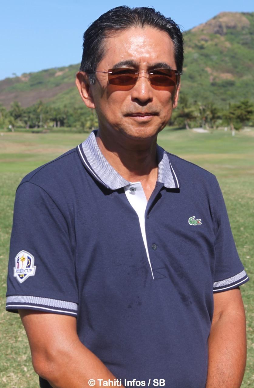 Christian Lausan, président de la fédération tahitienne de golf