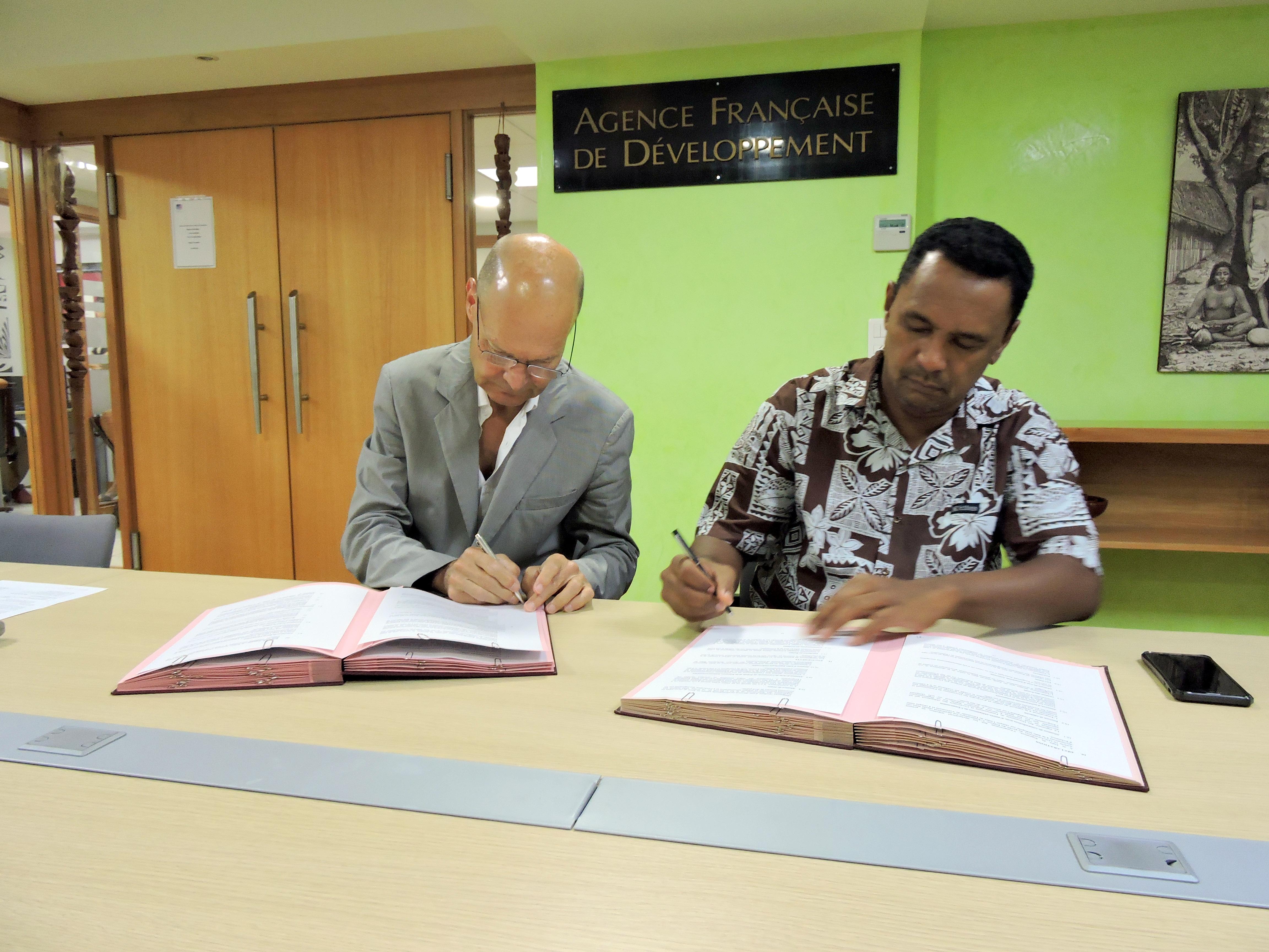 L'AFD accompagne la rénovation du réseau d'eau de Teva i Uta