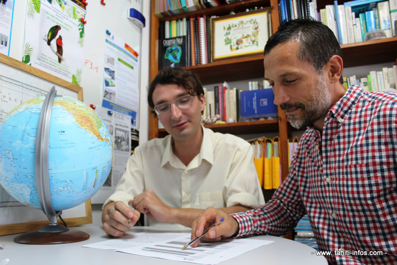 Gerbert Bouyssou, à gauche et Anthony Tchékémian (à droite) ont participé à la création de ce parcours.