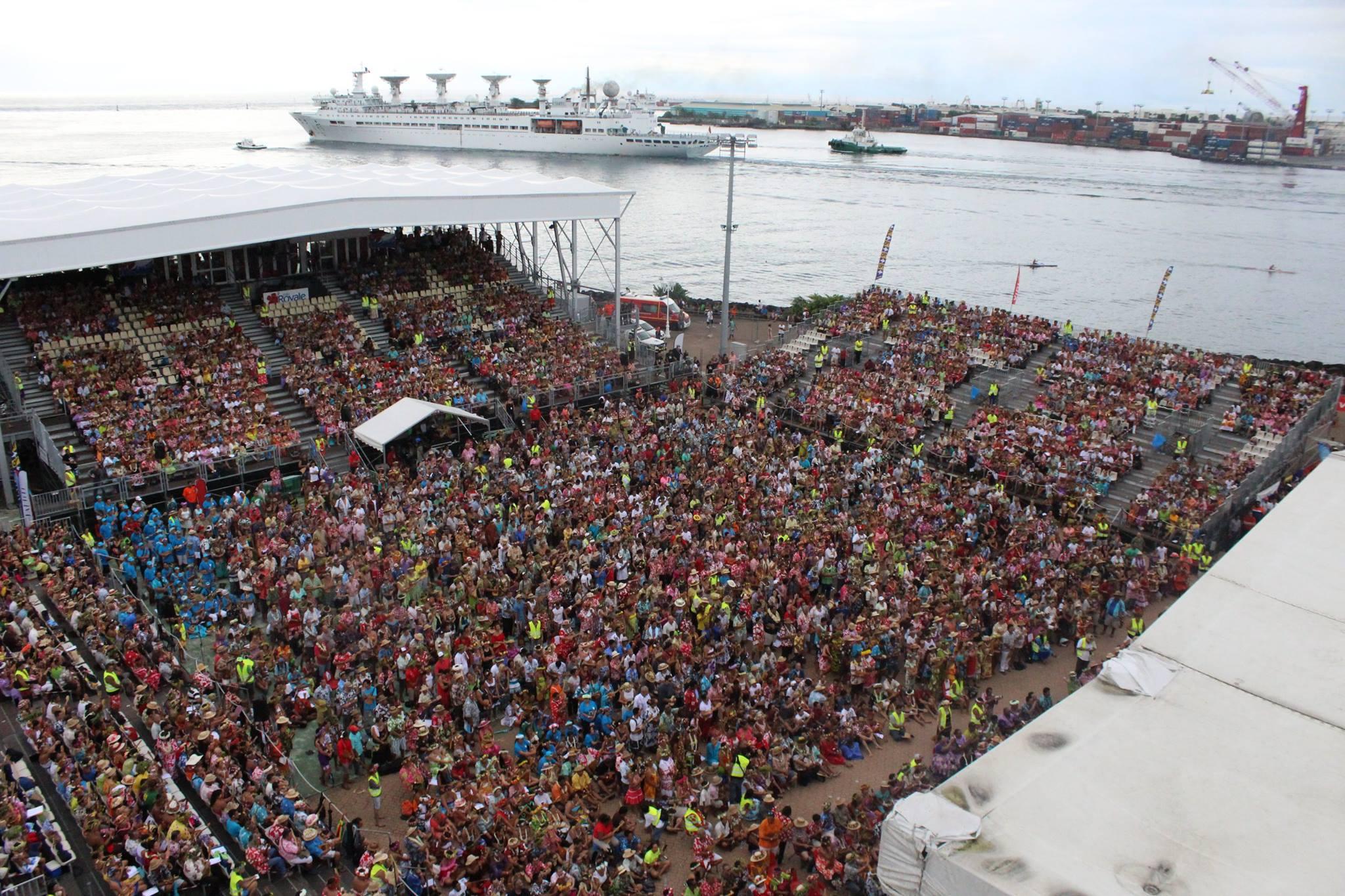 Photo aérienne de notre record du monde prise par la Maison de la la culture