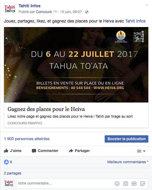 Gagnez des places pour le Heiva avec Tahiti Infos!