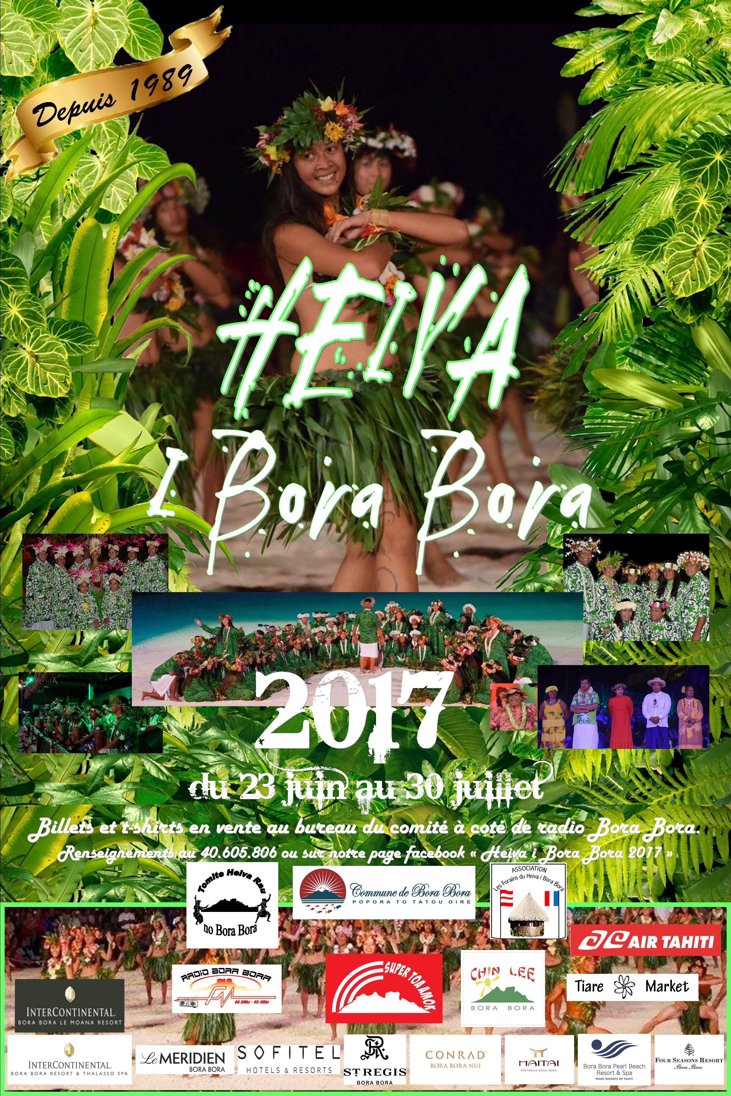 Six groupes de chants et danses s'affronteront cette année au Heiva i Bora Bora.