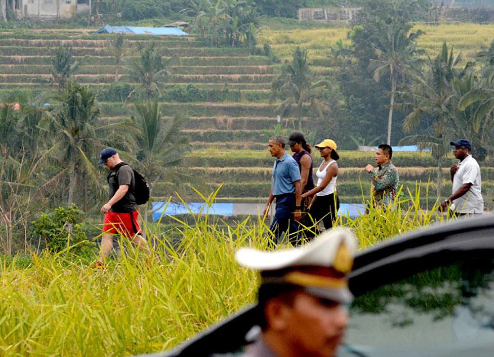 Obama et sa famille en vacances à Bali