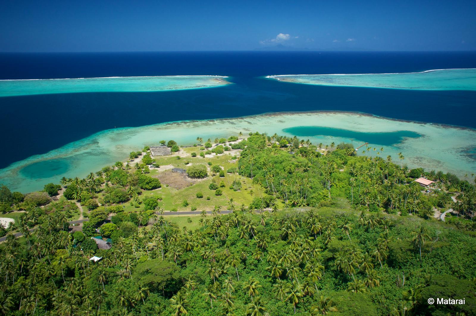 Taputapuātea forme un paysage culturel composé d'une partie terrestre et d'une partie marine.
