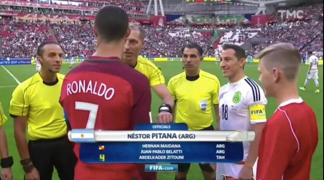 Kader Zitouni a côtoyé Cristiano Ronaldo lors de la Coupe des confédérations