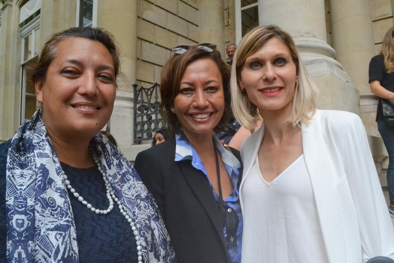 Maina Sage, Nicole Sanquer et leur collègue de Haute-Savoie Virginie Duby-Muller.