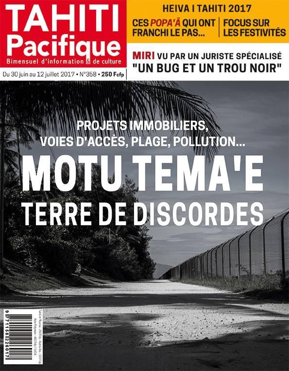 À la Une de Tahiti Pacifique, vendredi 30 juin