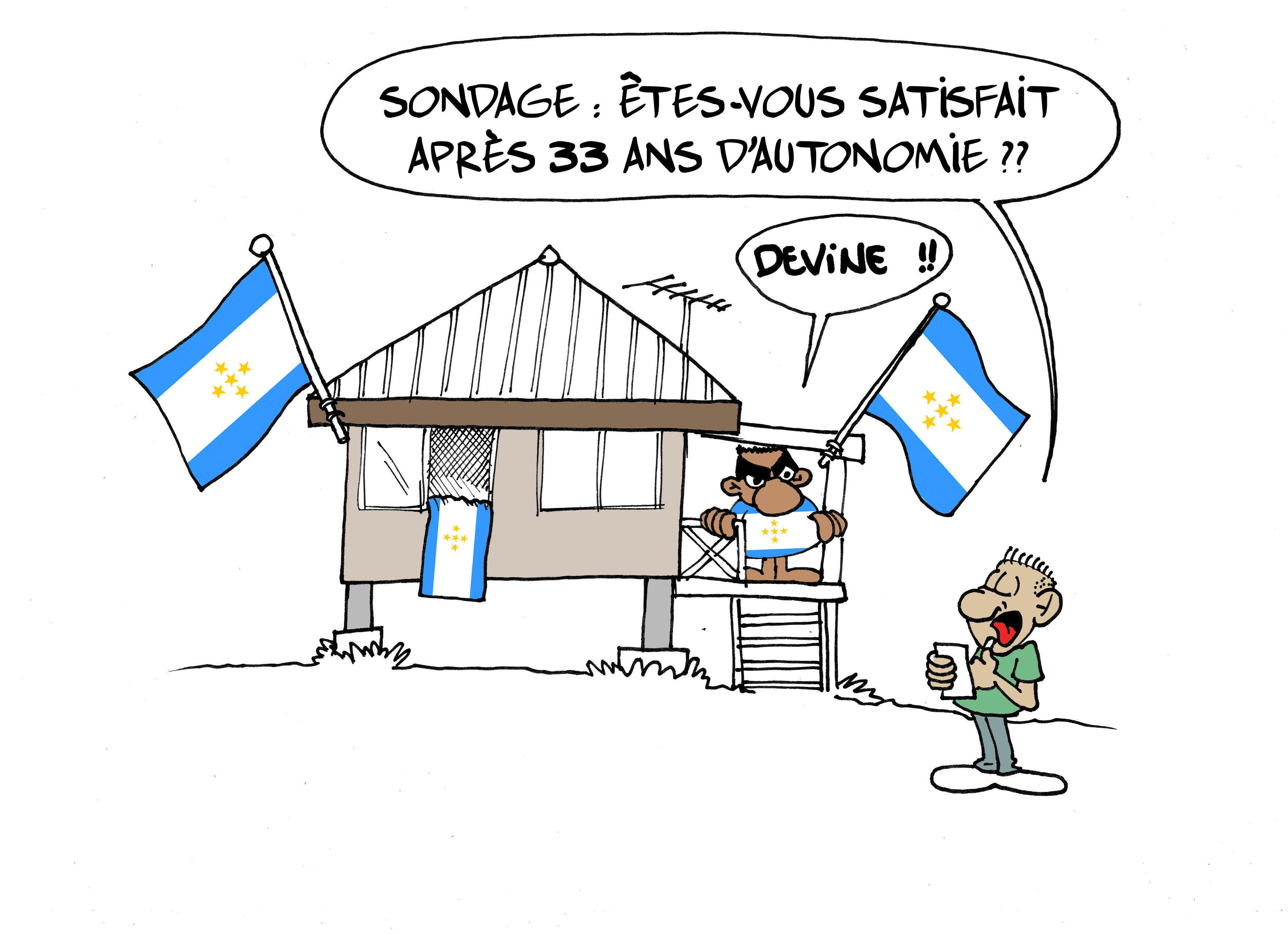 """"""" La fête de l'autonomie """" vu par Munoz"""