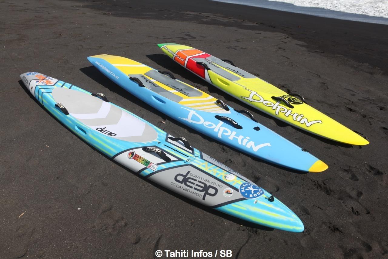 Des panches spécifiques sont utilisées pour le sauvetage sportif côtier