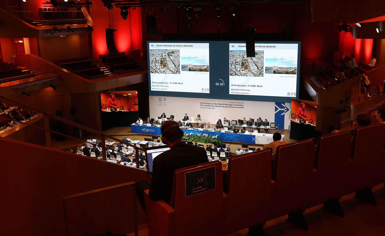 les travaux pour la 41ème session du Comité du patrimoine mondial de l'UNESCO ont débuté.