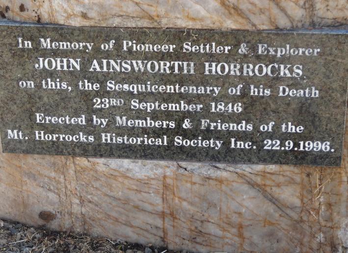 Pour marquer le 150e anniversaire de la mort du jeune explorateur, une plaque a été fixée à Penwortham en 1996.