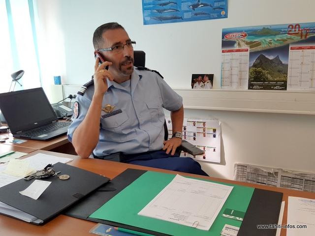 Le chef d'escadron Bruno Combes, commandant du Groupe d'intervention régional (GIR) de la Polynésie française.