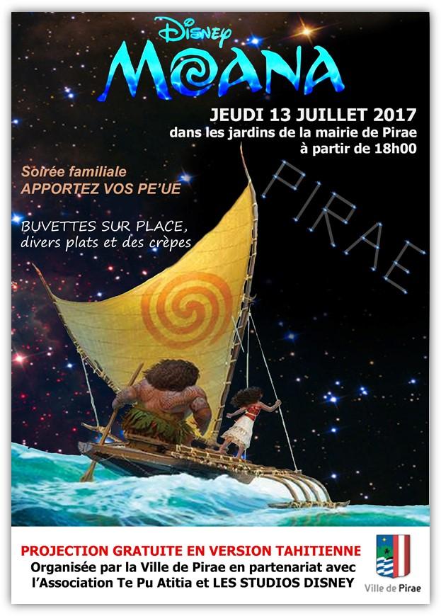 Pirae : projection de Moana en tahitien ce jeudi soir