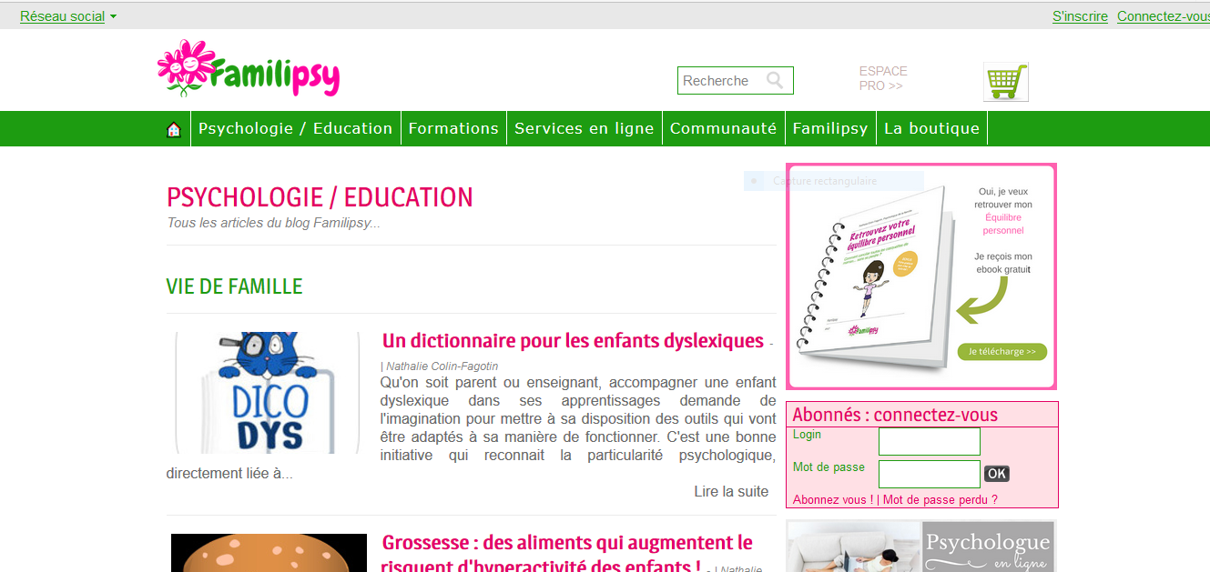 Familipsy évolue vers une plateforme d'eLearning