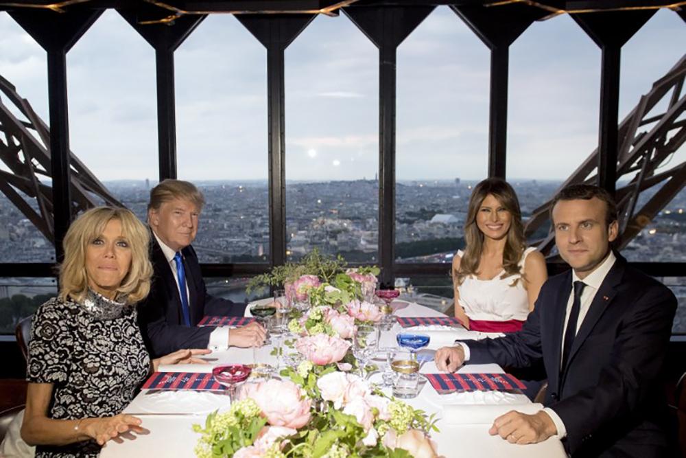 Dîner Macron-Trump au Jules Verne, table d'exception nichée dans la Tour Eiffel