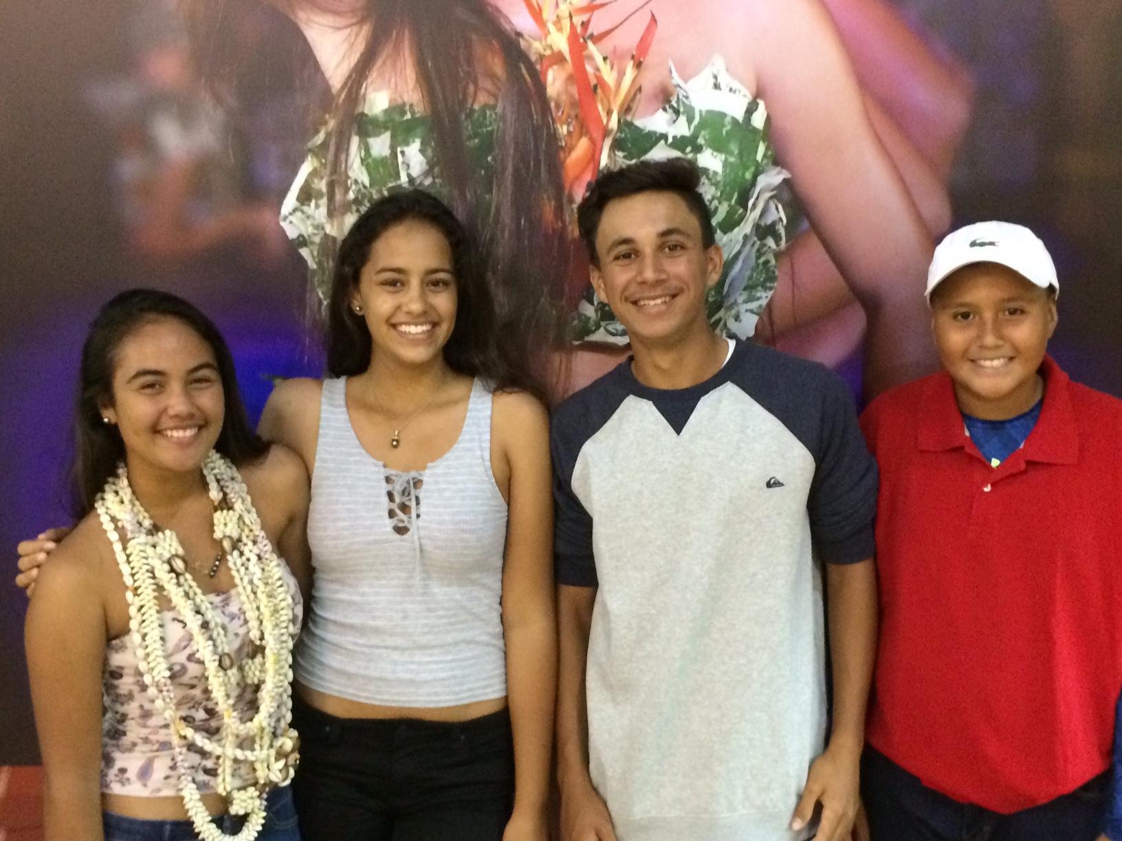 Flavia, Maggy, Arikinui et Ari