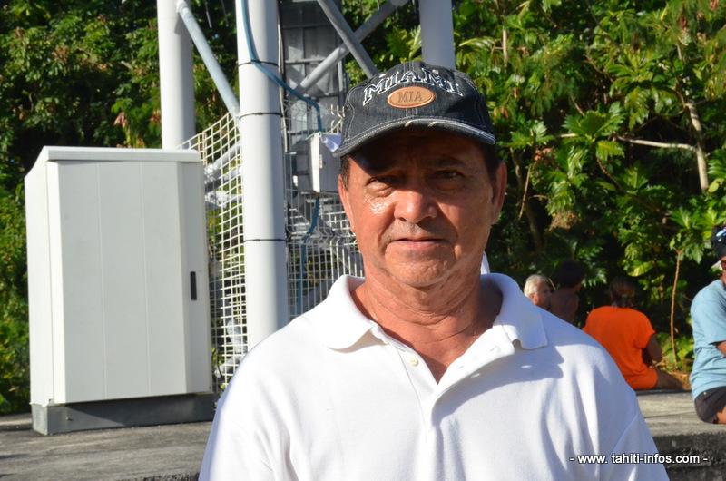 Jacky Ioane, habitant de Makatea et gérant d'une pension de famille.