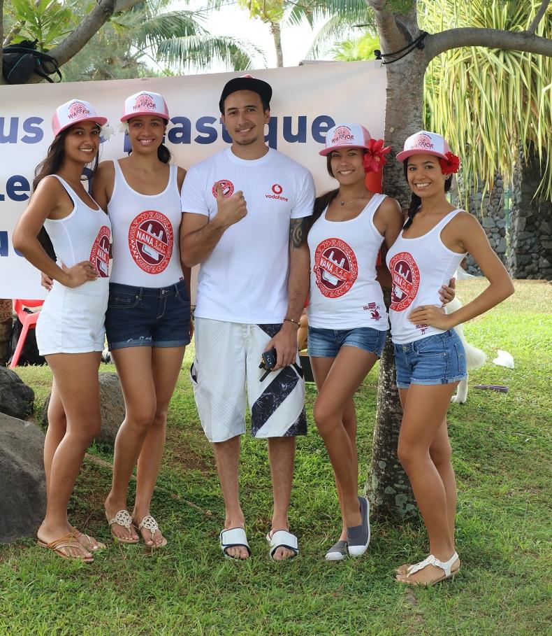 L'atout charme de l'environnement,  Miss Tahiti et ses dauphines