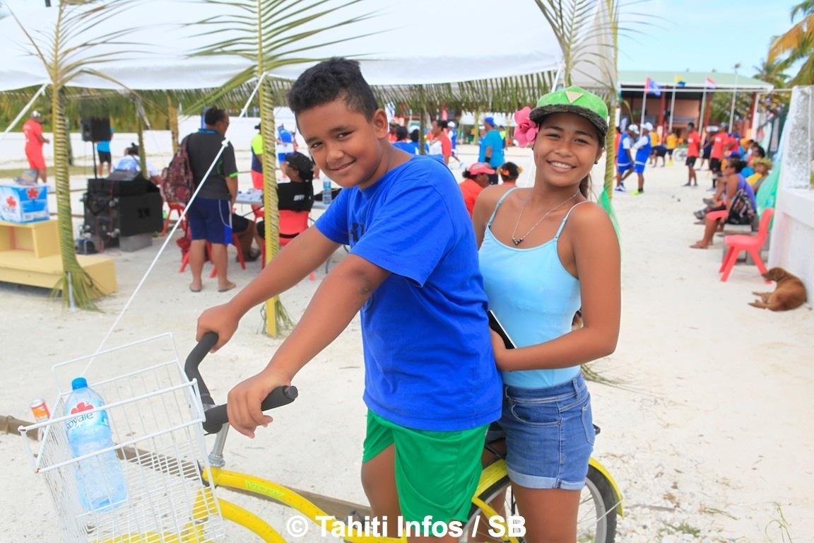 Toute cette animation a donné le sourire à la jeunesse des Tuamotu
