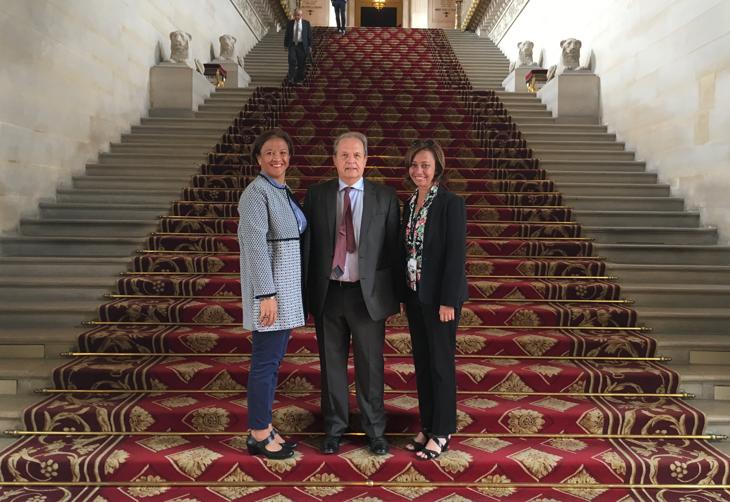 La sénatrice Lana Tetuanui s'est entretenue mercredi à Paris avec le président du Civen, en présence de la députée Nicole Sanquer.