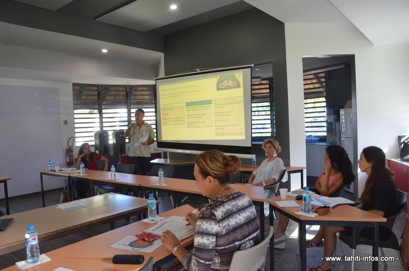 Les élus étaient invités à la présentation de ce projet réalisée par Philippe Biarez, responsable formations sanitaires à Moorea.