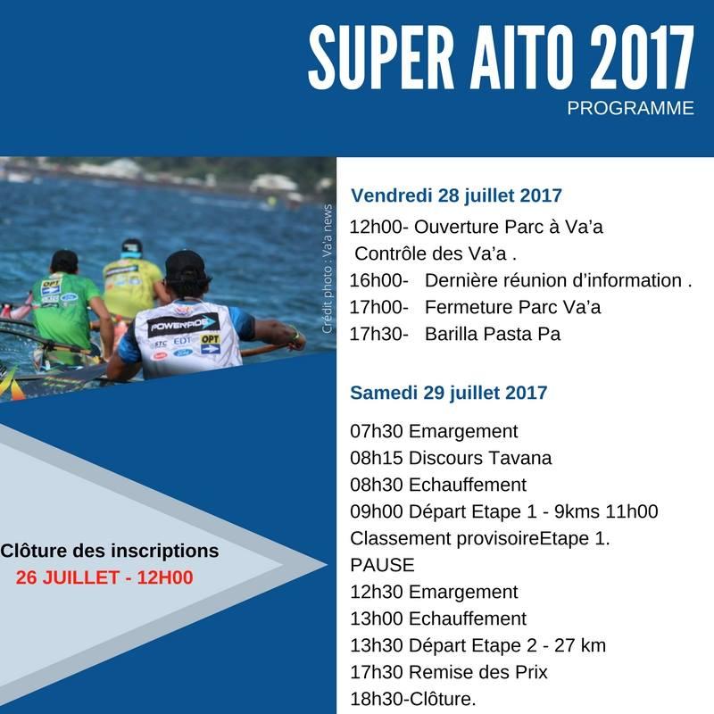 160 rameurs au départ du Super 'Aito 2017