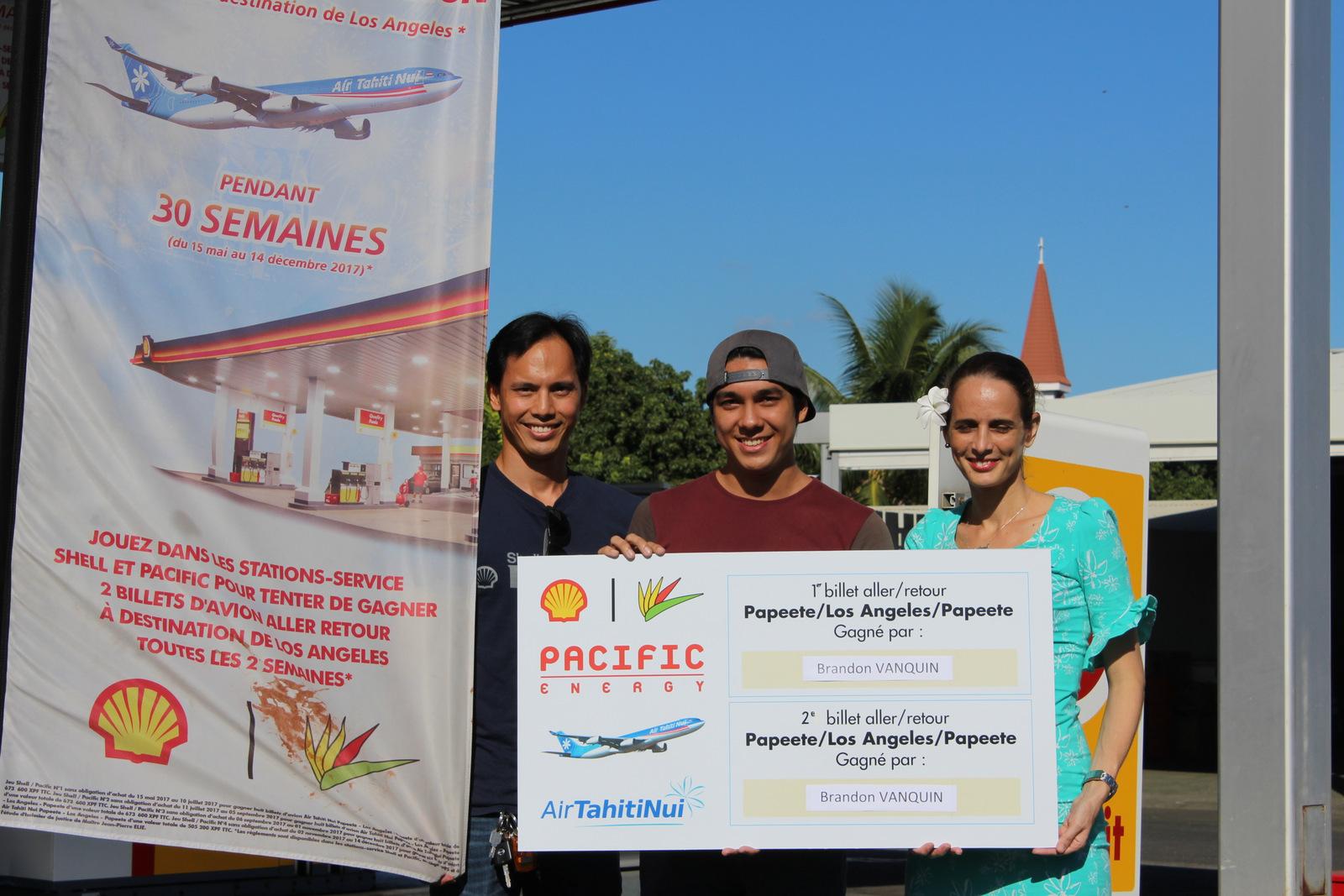 Brandon Vanquin, nouveau gagnant du jeu Shell-Pacifique