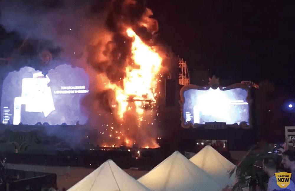 Espagne: spectaculaire incendie sans victimes lors d'un festival de musique électronique