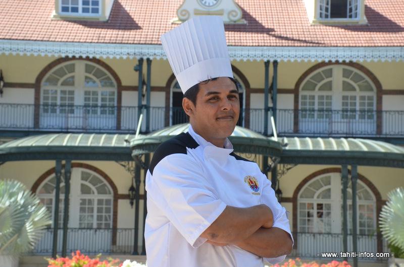 Merlin, 43 ans, travaille depuis 15 ans dans les cuisines de la présidence.