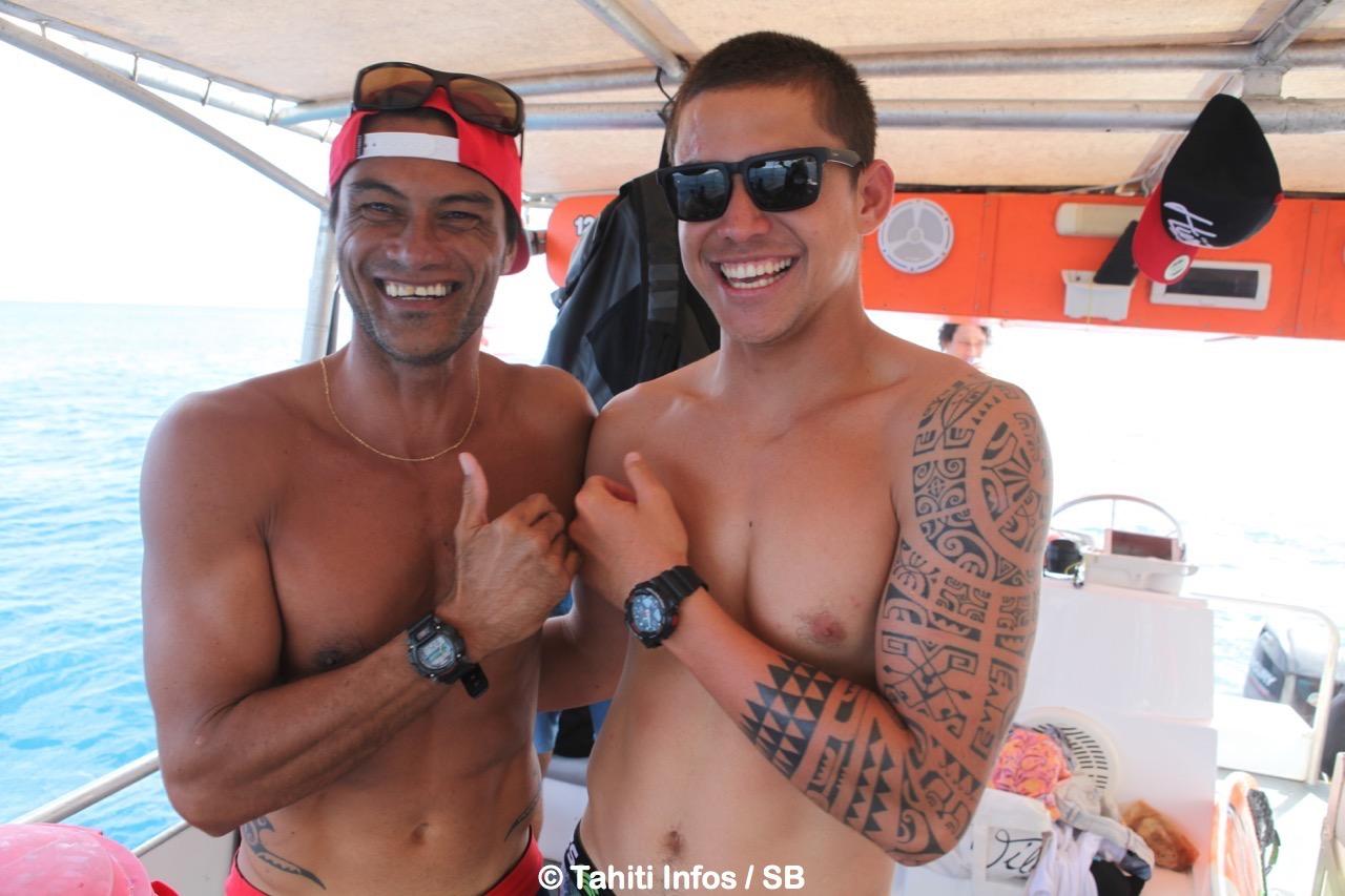 Hira Teriinatoofa et Kévin Bourez, deux des nombreux vainqueurs potentiels du clan tahitien