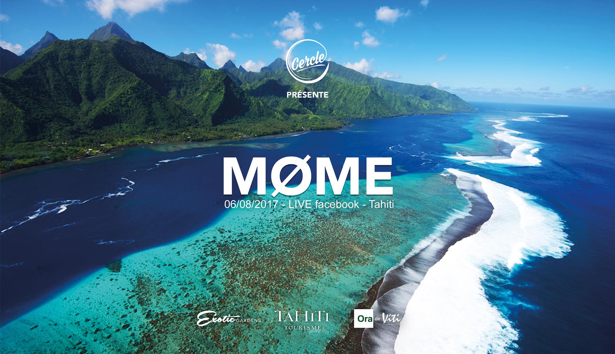 C'est depuis un bateau au large de l'île, dans un lieu inconnu, que Møme offrira un direct musical sur Facebook.