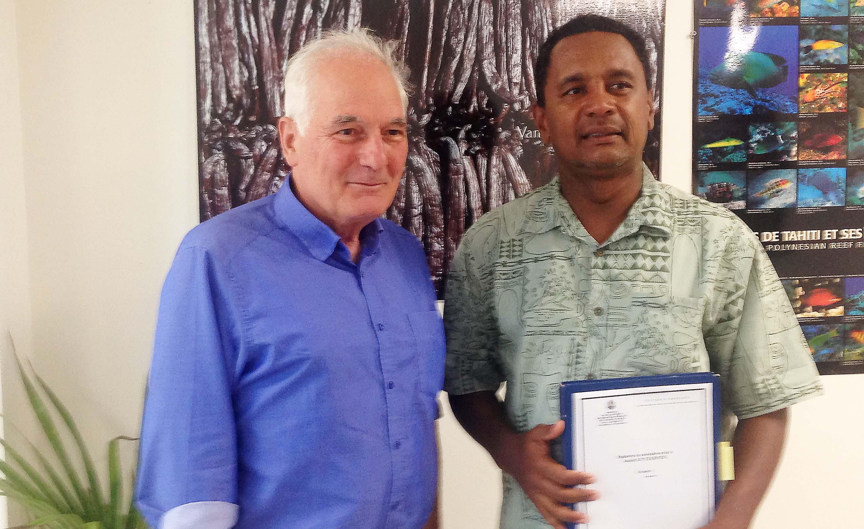 Signature de convention entre l'établissement public Vanille de Tahiti et la société ICP-Texinfine