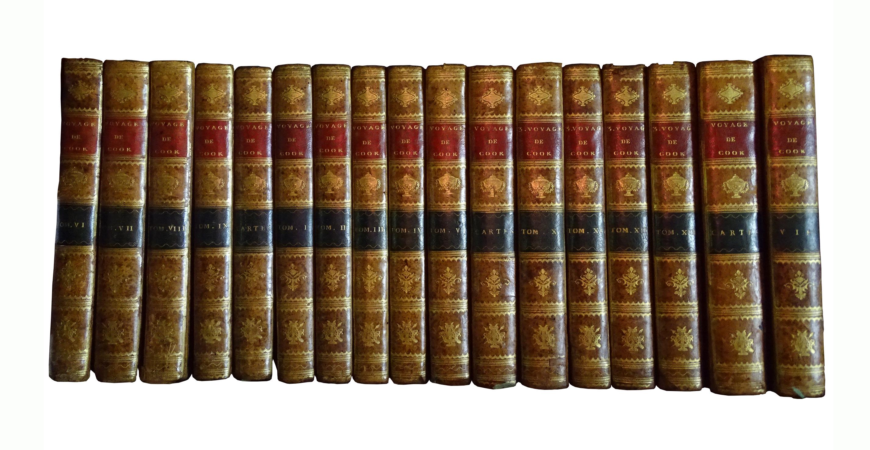 La collection complète des voyages de Cook comprend 17 volumes.