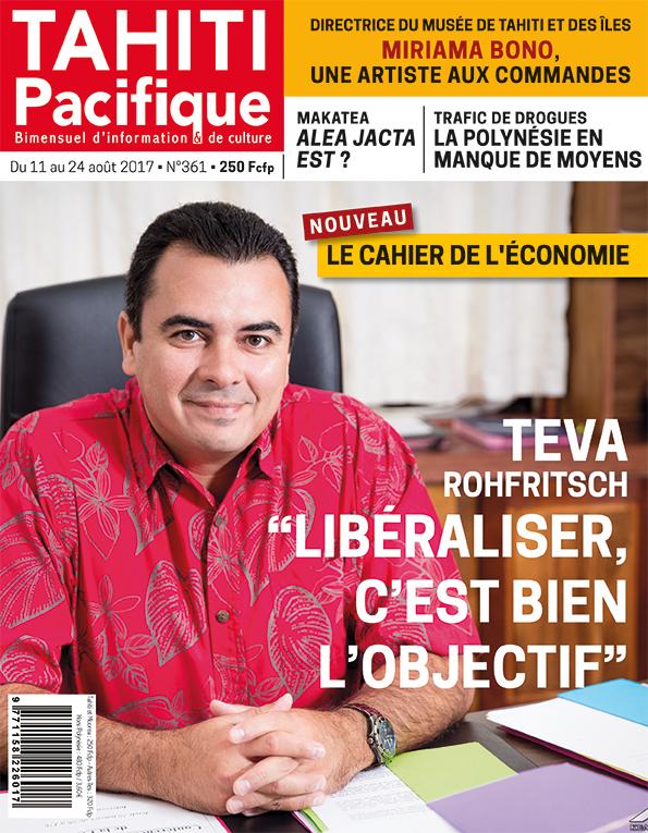 À la Une de Tahiti Pacifique, vendredi 11 août