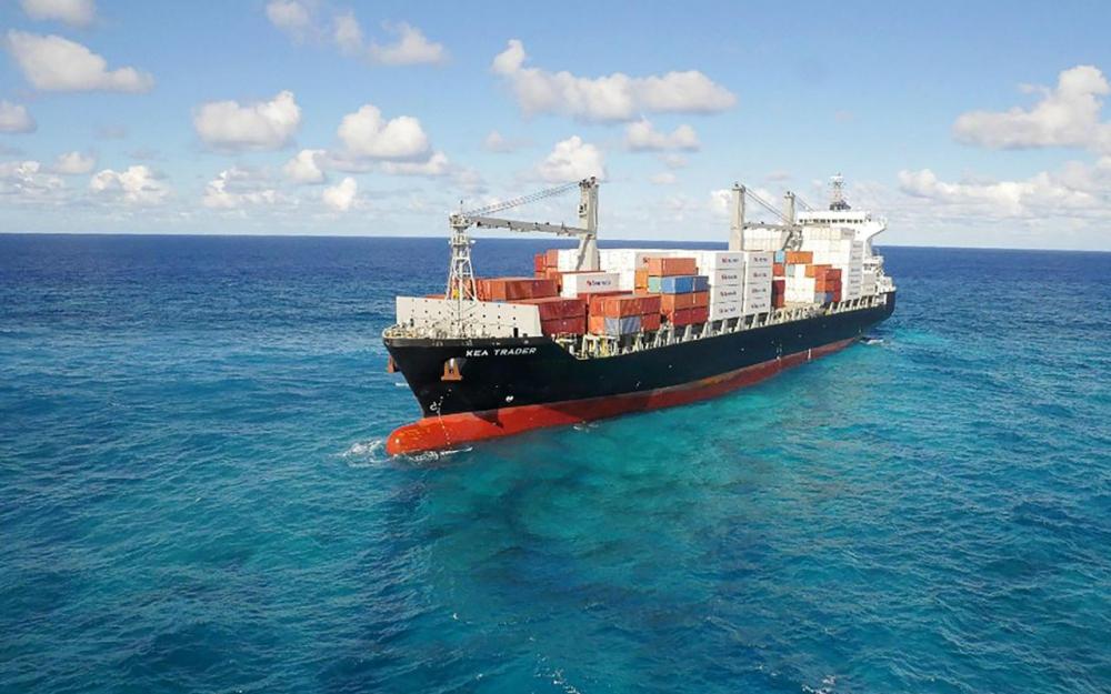 N-Calédonie: Fin des opérations de pompage du fioul d'un porte-conteneur échoué