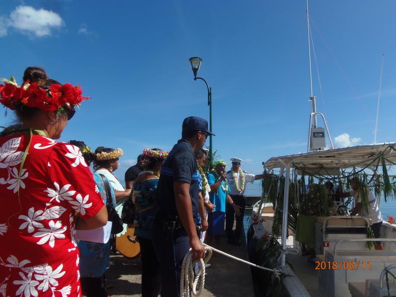 "Moorea : inauguration du bateau communal ""Taareu"""