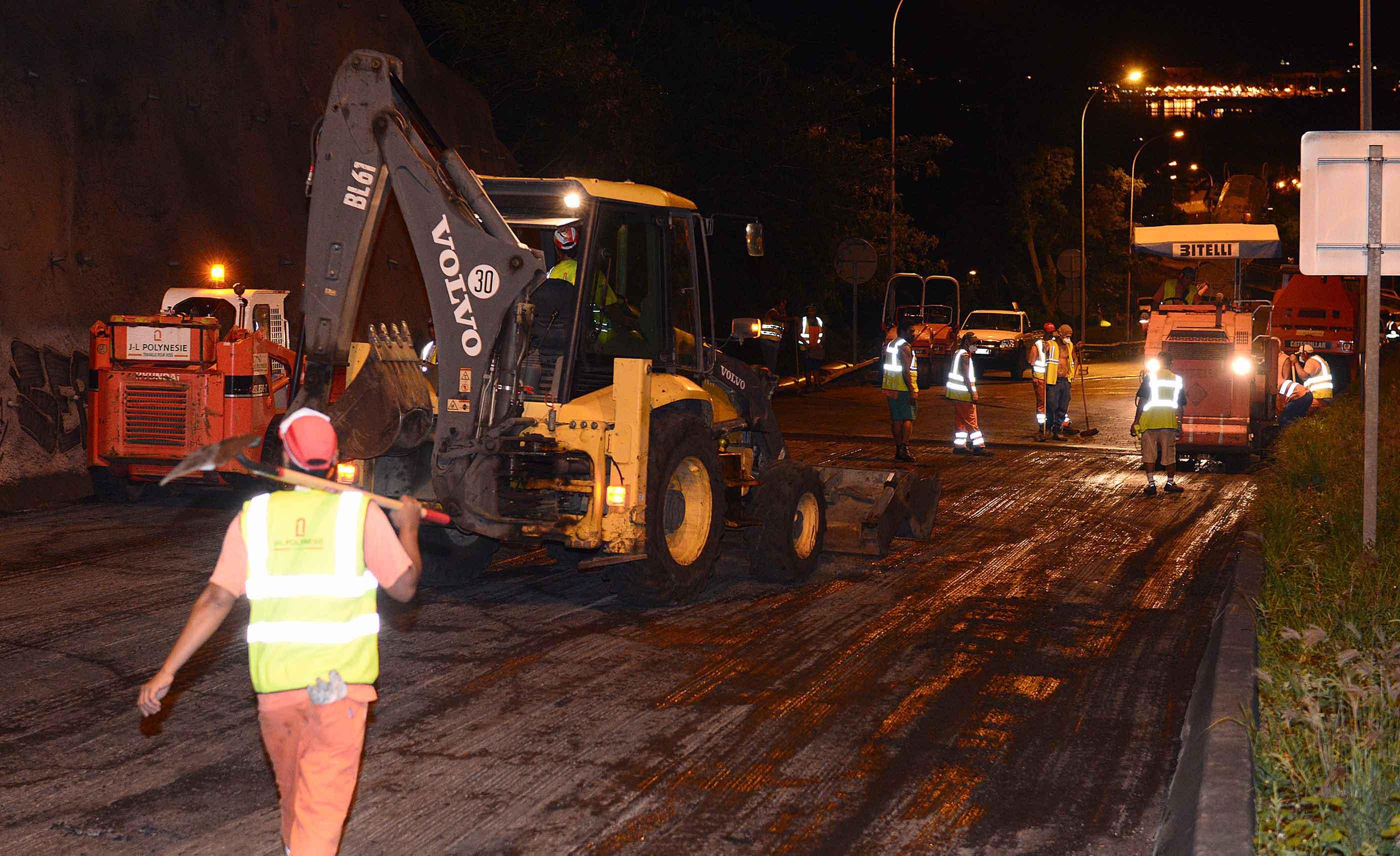 Circulation modifiée et chaussée réduite dès mercredi soir entre Outumaoro et le carrefour Taina