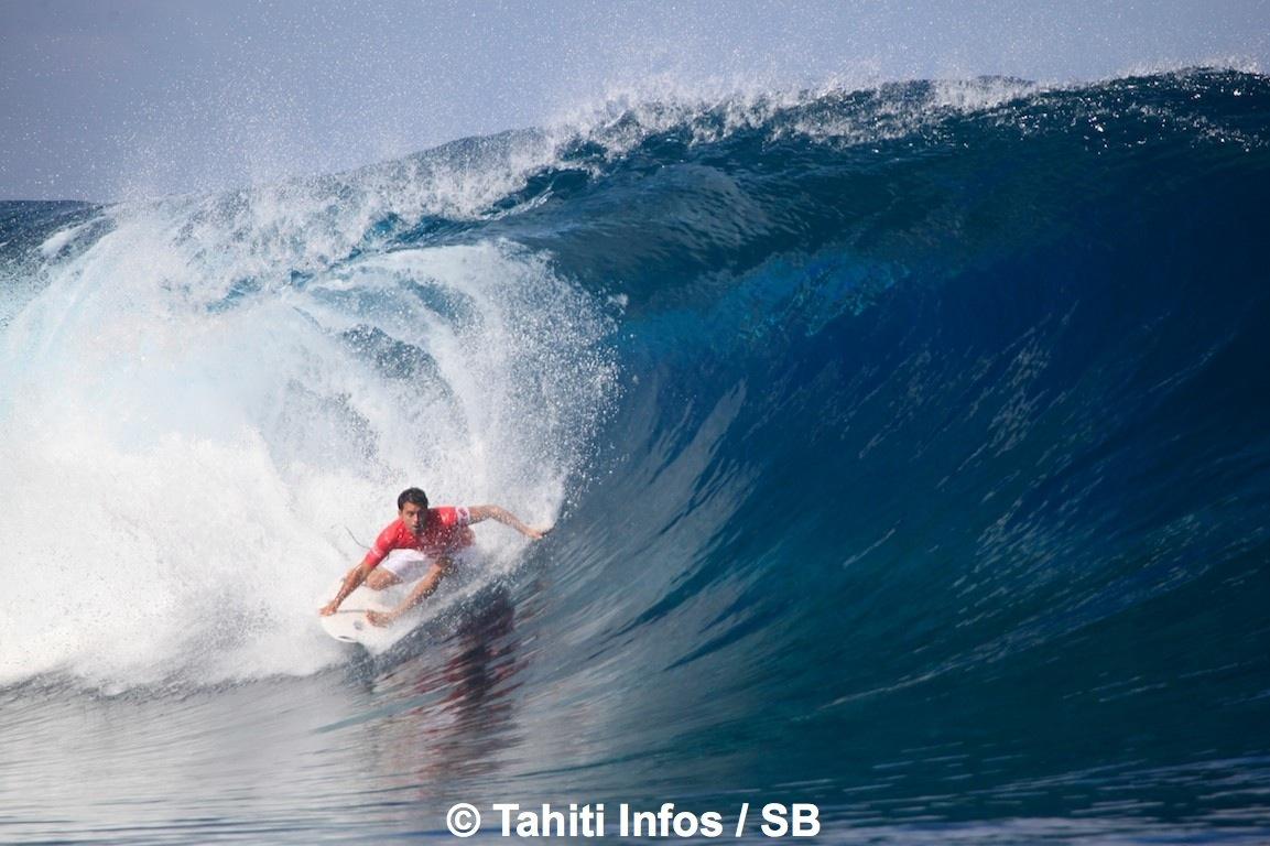 Jérémy Florès a pris de très belles vagues