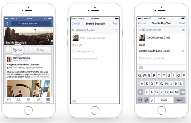 Facebook concurrence Le Bon Coin en facilitant la vente d'objets