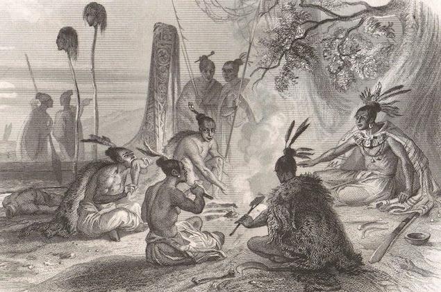Un repas cannibale tel que les premiers explorateurs européens en découvrirent en Nouvelle-Zélande.
