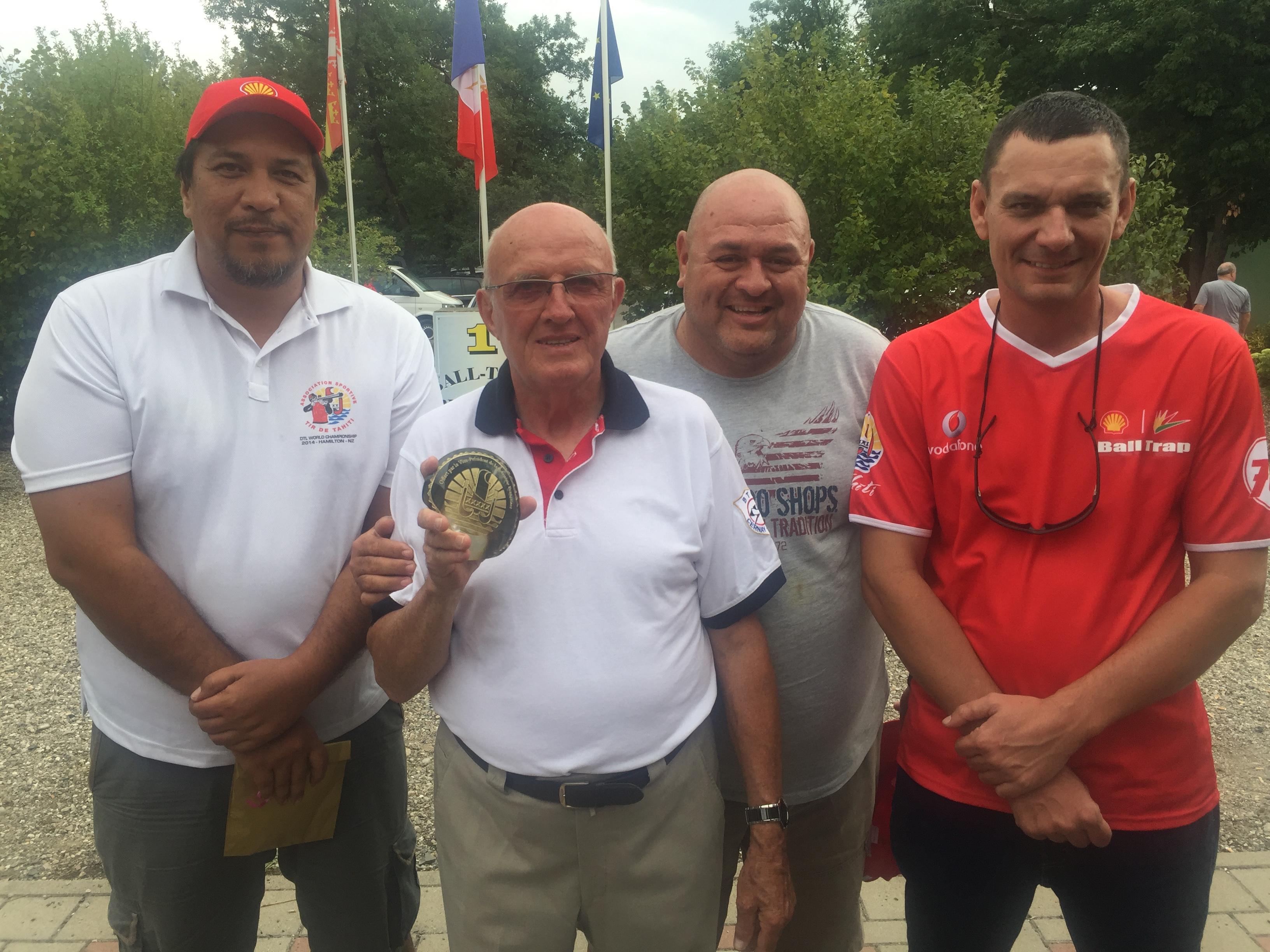 La volonté des trois tireurs a été félicitée par Pierre Wenger, le Président du club de Cernay.