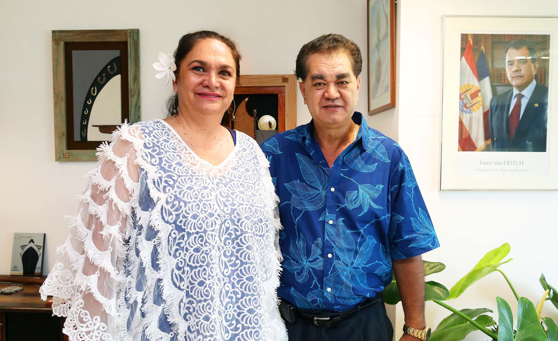 La ministre du Tourisme s'entretient avec le président de la CCISM