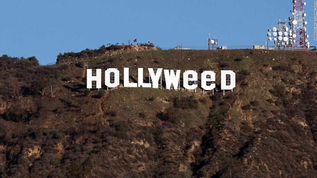 Le 1er janvier 2017, le nom qui surplombe Los Angeles est modifié pour célébrer les avancées de la législation californienne sur le cannabis.