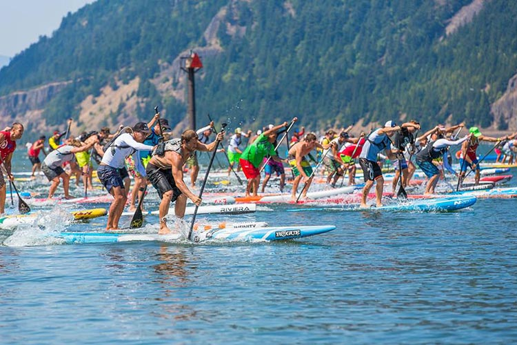 Le départ de la course © Naish Columbia Gorge Paddle Challenge