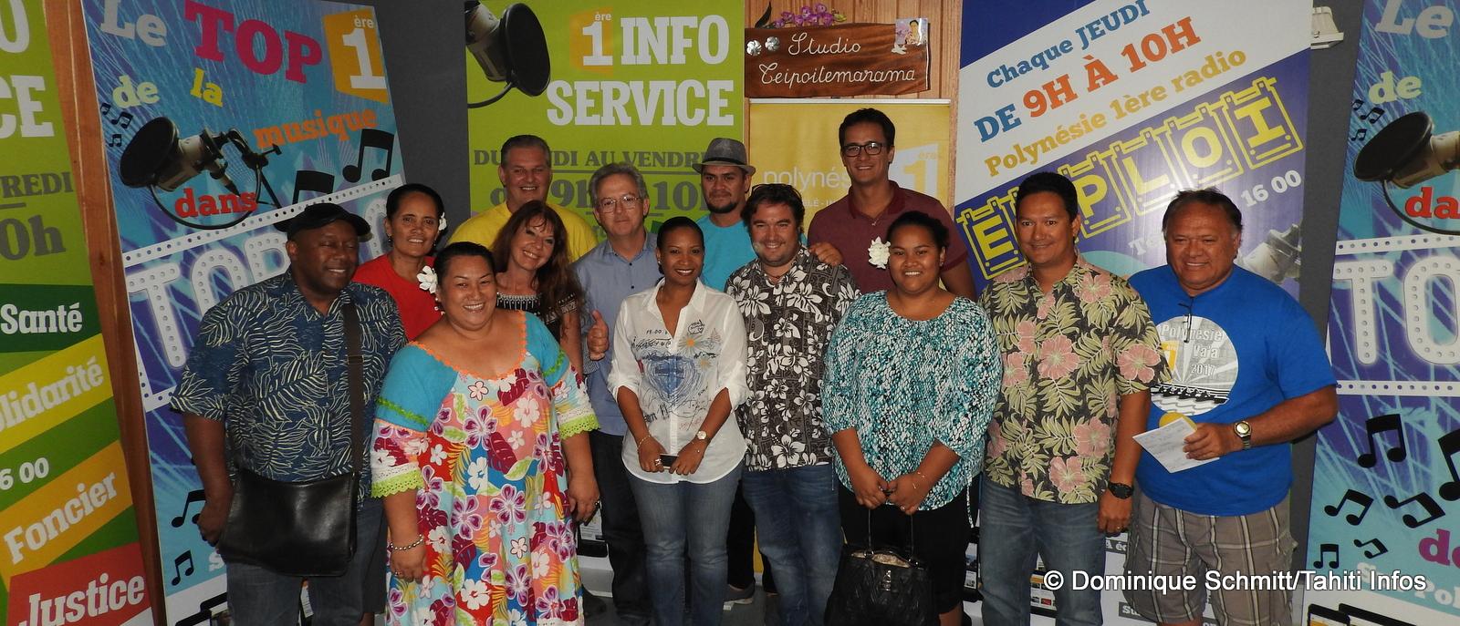 L'équipe, en partie renouvelée, de Polynésie 1ère radio.