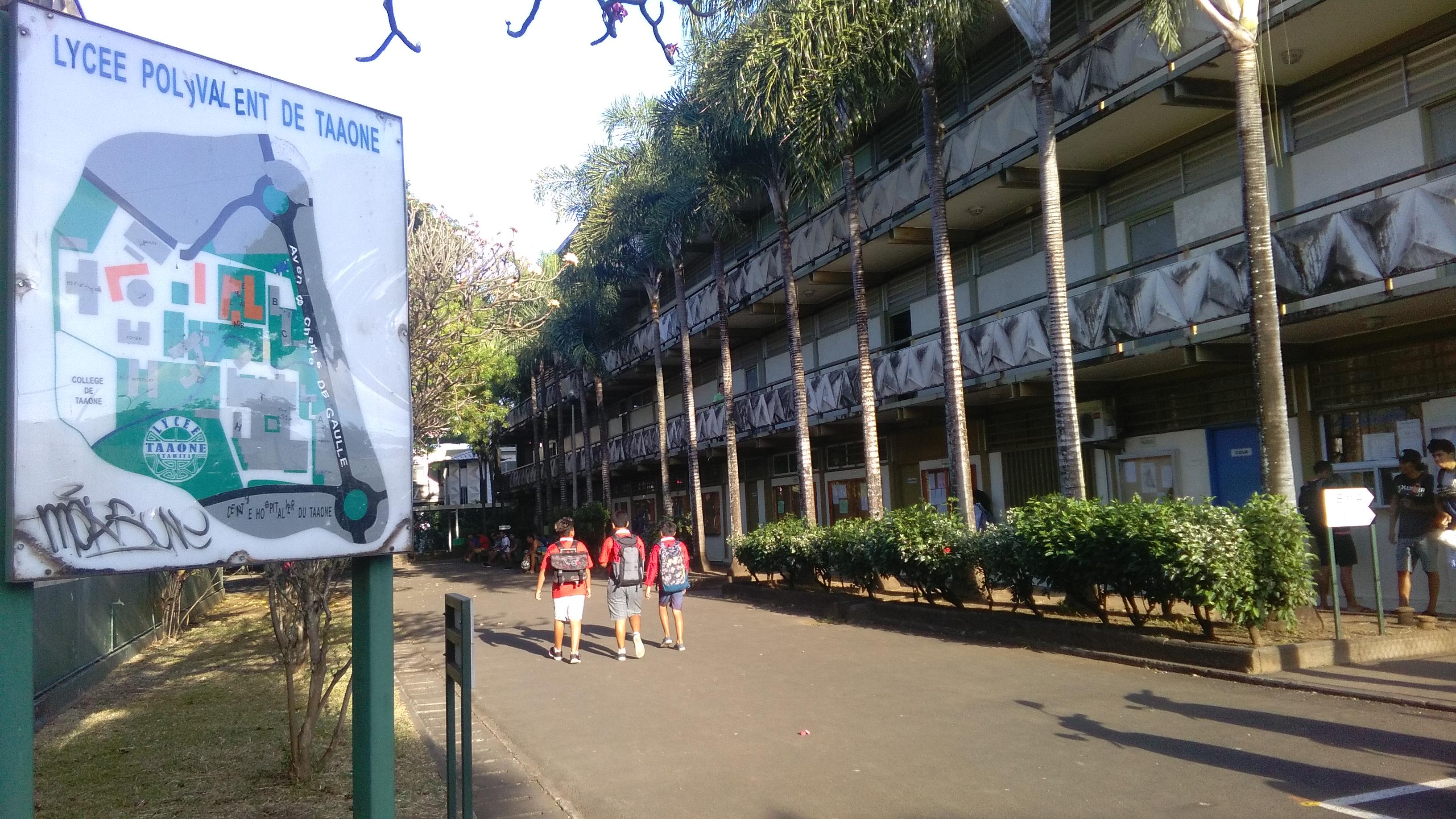 Les 1250 élèves du lycée du Taaone sont rentrées en fin de semaine dernière.