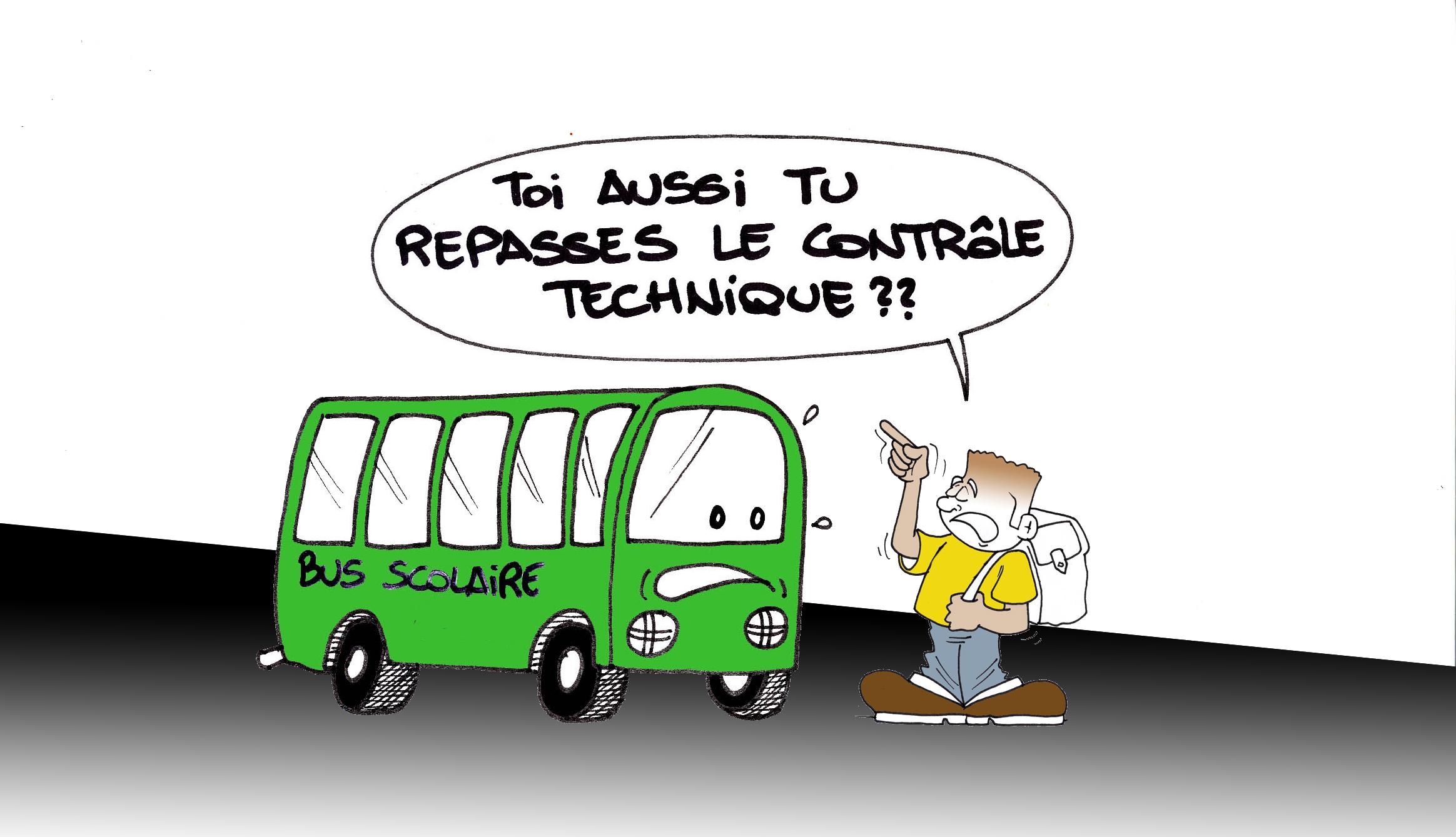 """"""" Bus scolaire """" vu par Munoz"""